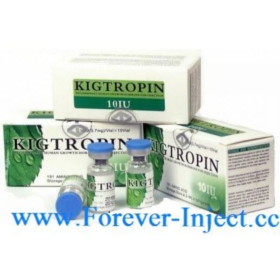Kigtropin is a recombinant human growth hormone. Kigtropin is produced by recombinant DNA technology in E.coli secretion expression system. Somatropin has the same amino acid sequence with 191 residues as the native human growth hormone produced in the hu
