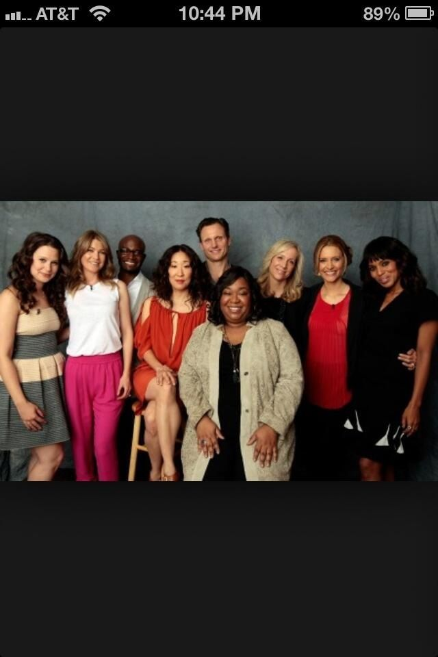 Grey's Anatomy  Scandal cast with Shonda Rhymes
