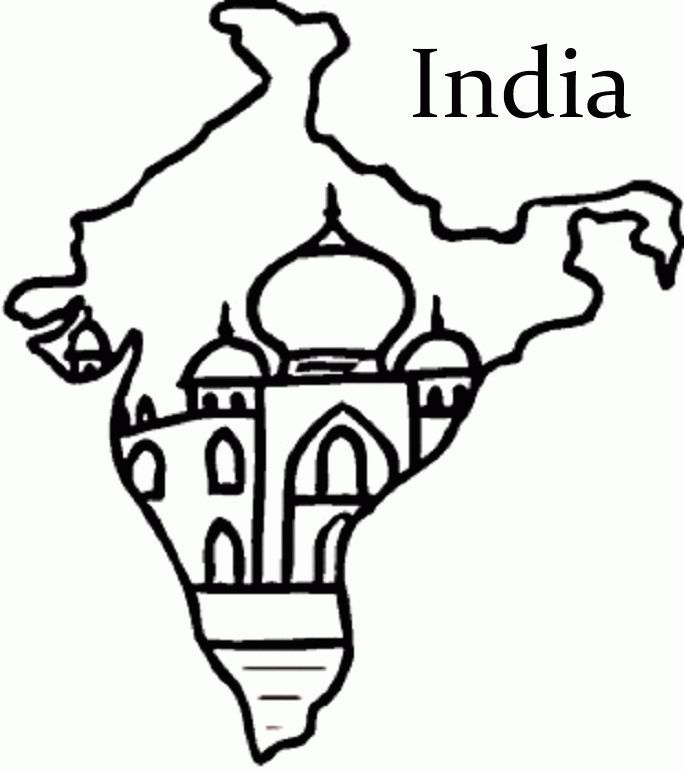 Download Or Print This Amazing Coloring Page India Flag And Map Colouring Pages India Map India Flag India Crafts