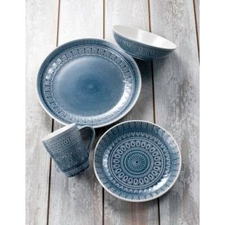 Shop for Euro Ceramica Fez 16-piece Crackle-glaze Dinnerware Set (Service for 4). Get free delivery at Overstock.com - Your Online Kitchen & Dining Outlet Store! Get 5% in rewards with Club O! - 25488445