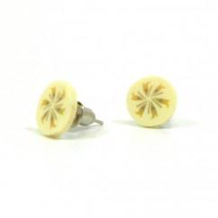 Muz dilimi küpe - #tasarim #tarz #sarı #rengi #moda #hediye #ozel #nishmoda #yellow #colored #design #designer #fashion #trend #gift