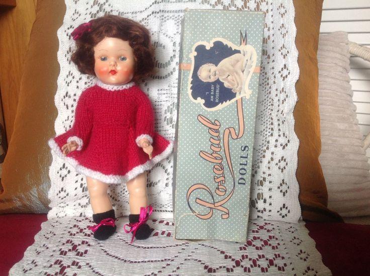 C 1950s Vintage Hard Plastic Miss Rosebud Boxed Doll 1 | eBay
