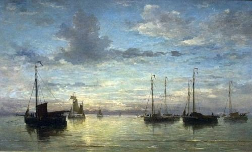 Hendrik Willem Mesdag, Evening on the Sea, 1870