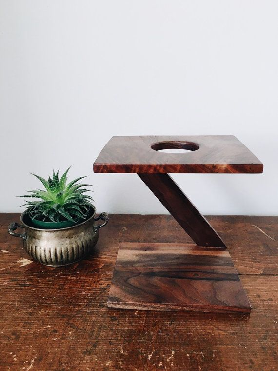 Coffee Stand  Single Wooden Pour Over Stand  by TheModernColonist