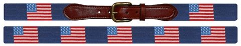 Smathers and Branson American Flag needlepoint belt $165