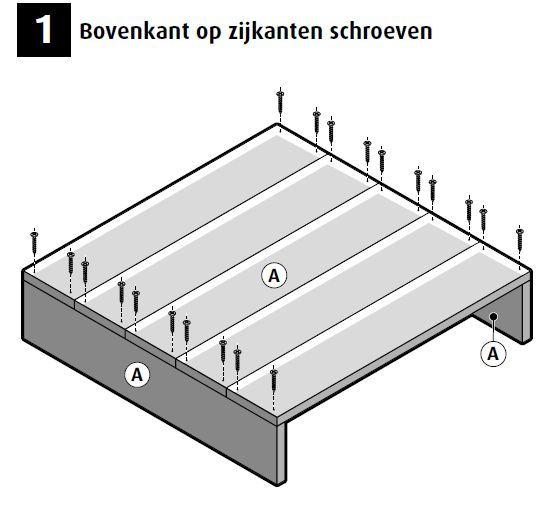 Salontafel maken van #steigerhout #bouwtekening stap 1   Steigerhout   Pinterest   Van