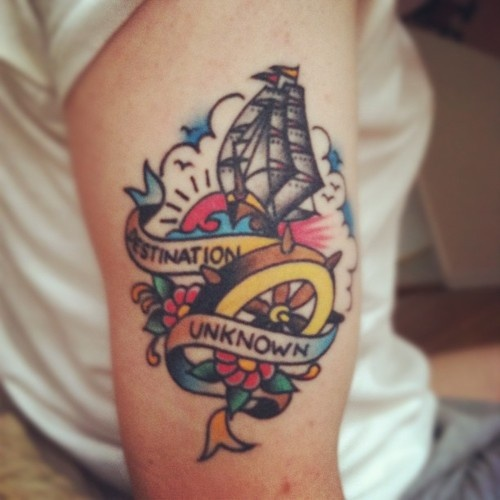 cool take on a traditional tattoo.