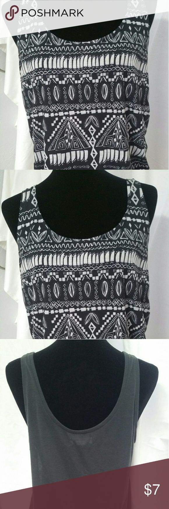 Element Tank Top Tribal Print Black, Gray white 100% Polyester. Great for HOT summer days. Lightweight. Gently Used Condition Element Tops Tank Tops