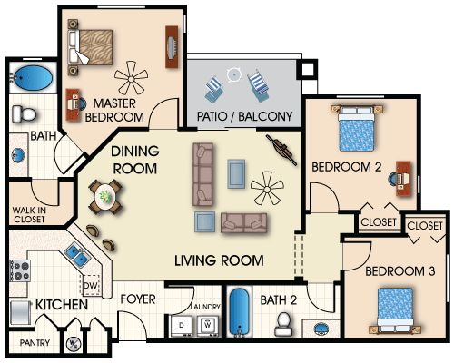 Three Bedroom Apartments Floor Plans 3 bedroom || vesmaeducation