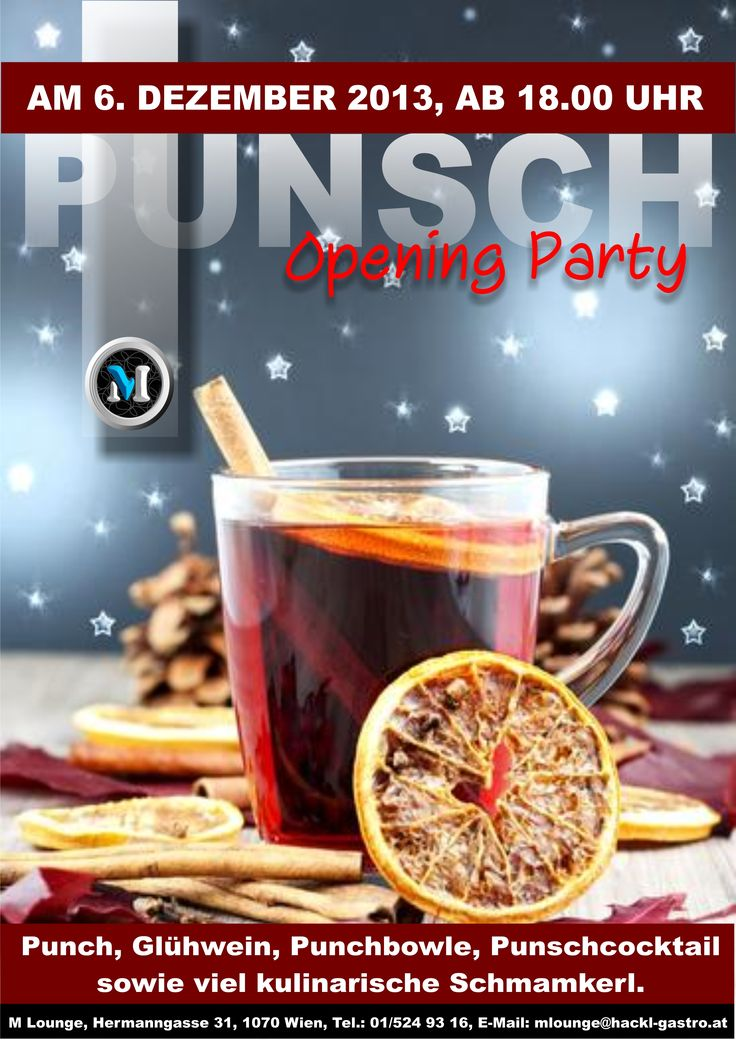 M LOUNGE Punsch Opening Party! 06.12.2013 ab 18.00 Uhr