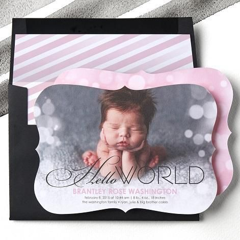 1000 images about Birth Announcements – Tiny Prints Birth Announcement