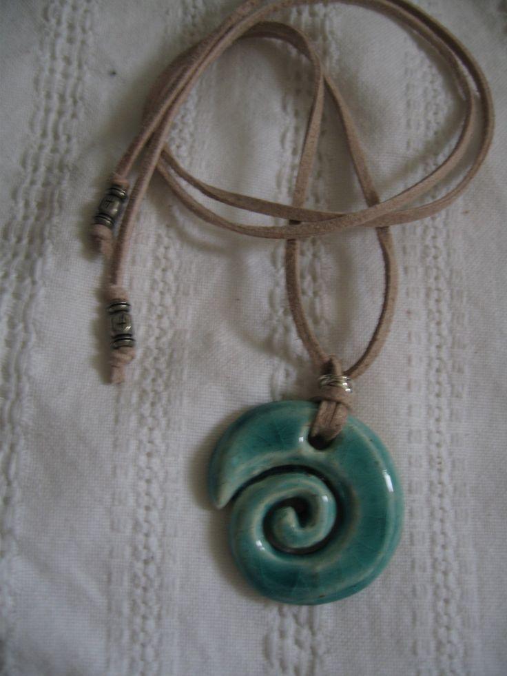 Acqua spiral ceramic jewelry