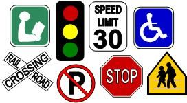 Printable Road and Construction signs to laminate
