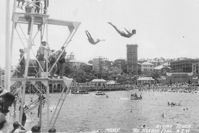 Diving tower at the Manly Harbour Pool