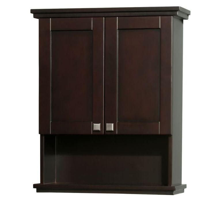 "Wyndham Collection WCCG8000WC 25"" Wall Mounted Bathroom Cabinet from the Acclaim Espresso Bathroom Cabinets Wall Cabinets Wood"