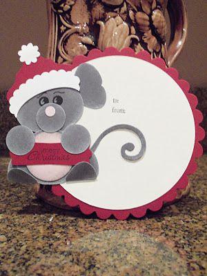 Santa Mouse Punch Art Stampin' UP! SU