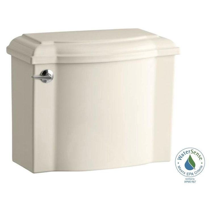 KOHLER Devonshire 1.28 GPF Single Flush Toilet Tank Only with AquaPiston Flush Technology in Almond (Brown)