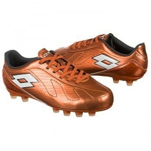 Lotto EC1279833 Soccer Cleats Kids Orange Leather - ONLY $50.00