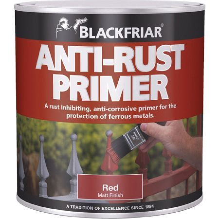 #Blackfriar Anti Rust Primer  Undercoat for #Blackfriar Anti-Rust Primer Quick Drying is an all-in-one primer and undercoat that is the perfect preparation for Blackfriar Metal Paint. Itandrsquo;s easy to apply and provides excellent protection against rust, making it ideal for factory mainten... (Barcode EAN=5013296330046)