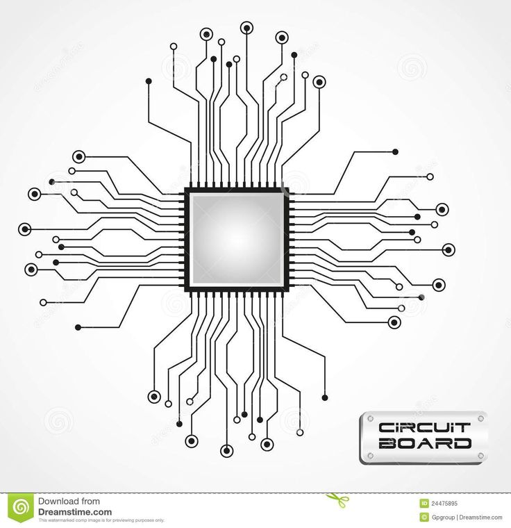 Circuit Board Tattoo Designs: Circuit-board-cpu-24475895.jpg (1300×1343)