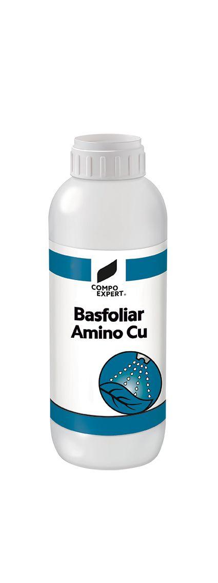 Basfoliar® Amino Cu  Σύνθεση: 5% υδατοδιαλυτός χαλκός  Υγρό λίπασμα χαλκού ειδικής χηλικοποίησης.Η σύνθεσή του εξασφαλίζει υψηλή απορρόφηση του χαλκού, η οποία οδηγεί σε εύρρωστα φυτά και υψηλές αποδόσεις.  Ιδανικό για διαφυλλική εφαρμογή αλλα και υδρολίπανση σε κάθε καλλιέργεια.  Διαθέσιμες ΣυσκευασίεςΧαρτοκιβώτιο 12x1 λίτρο