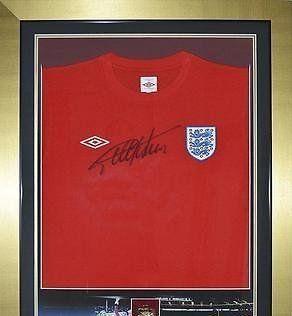 Signed Sir Geoff Hurst England Shirt - World Cup Final 1966 Medal