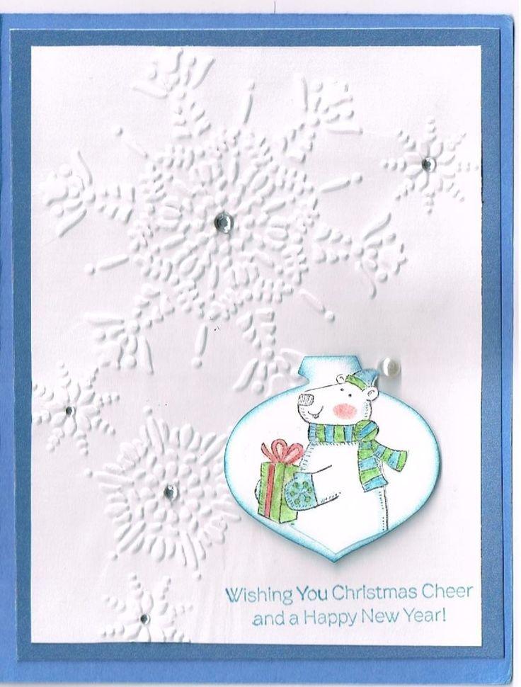 Marina Mist, Flurry Folder, Ornament Punch, Polar Party Stamp.
