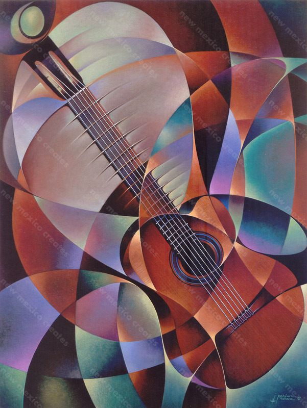 Dynamic Guitar Print - Ricardo Chavez-Mendez - New Mexico Creates - Stunning Art Work by New Mexico Artists #art #illustration