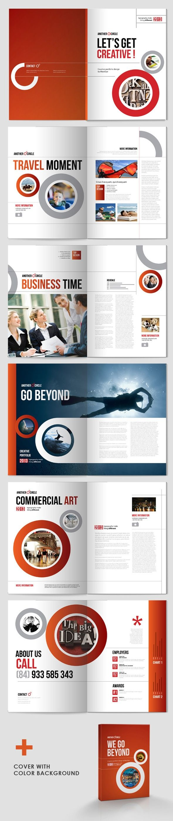 print design / editorial | Corporate Design Spreads