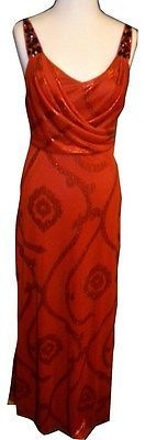 Jump Apparel Women Accented Straps Draped Bodice Swirls Chiffon Gown Holiday Red