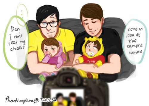 "phantheraglama: hello shamelesS parent!phan fam picture right after my draw for their 1M HAHHAH FML ok so I've been thinking instead of just one boy I would imagine them to have two kids one boy and one girl. (since dan once said he wanted 2 or 3 children) The boy will be Winston and will be called Winnie (as someone suggested sfjhbs) and the girl im still deciding if Delia is a good name cause she can be called ""dee"" or ""dil"" ironically (after the goddess delia smith) lolol idk AGAIN WITH…"