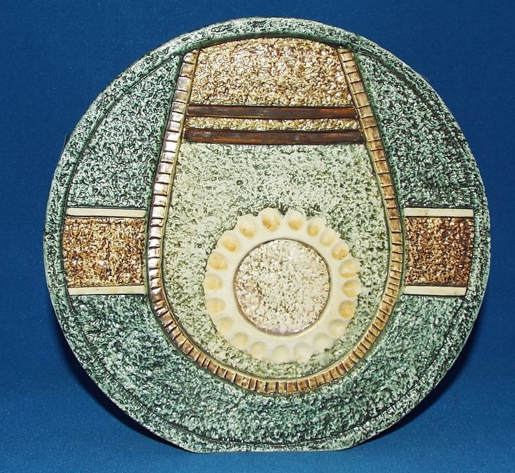 A Troika pottery wheel vase, with stylised decoration, the base with Alison Brigden monogram, 19.