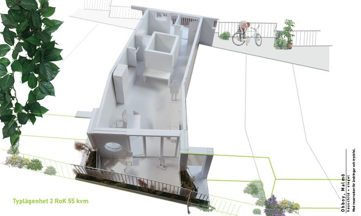 Cykelhuset Ohboy: 1 bedroom 58 sqm apartment overview