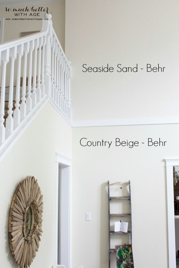 Farmhouse Living Room Neutral Foyer - Before & After | For The Home | Paint