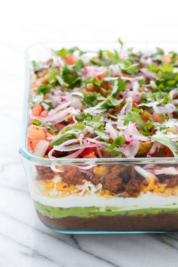 This Mexican 7-Layer Dip recipe will be your new party favorite!