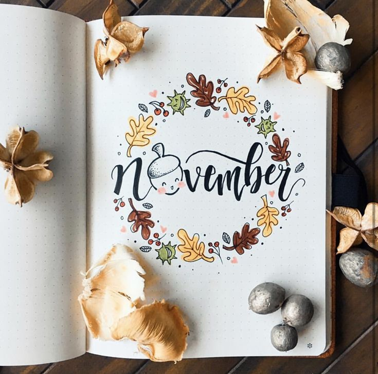 10 November Bullet Journal Themes