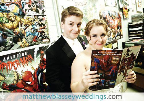 Catherine and Tom's Comic Book Wedding photos by Matthew Blassey.