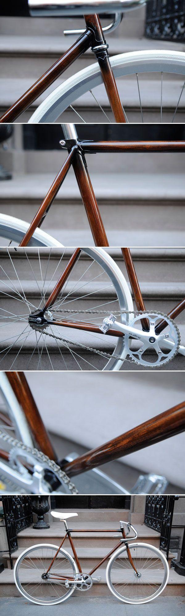 wood grain bicycle: Grains Bicycles, Bike Frames, Wood Grains, Grains Frames, Awesome Frames, Woodgrain Bike, Beautiful Bike, Wood Bike, Awesome Wood