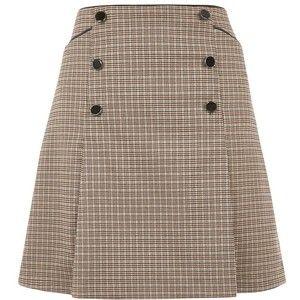 Oasis Check Pleated Skirt, Multi