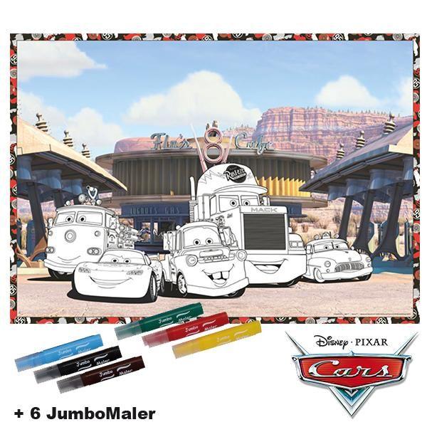 #BoMaBi Cars Motiv 1 ● Poster 118 x 84 cm zum #ausmalen incl. 6 Jumbomalern ● #Malen, #Spielen, #joyPac®