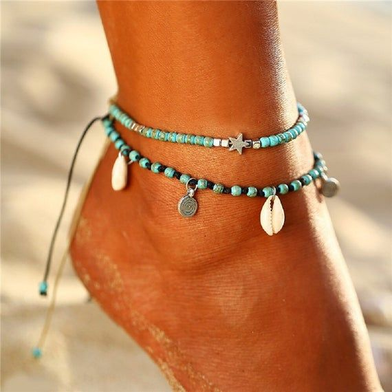 Beach Vibes Beaded Anklet