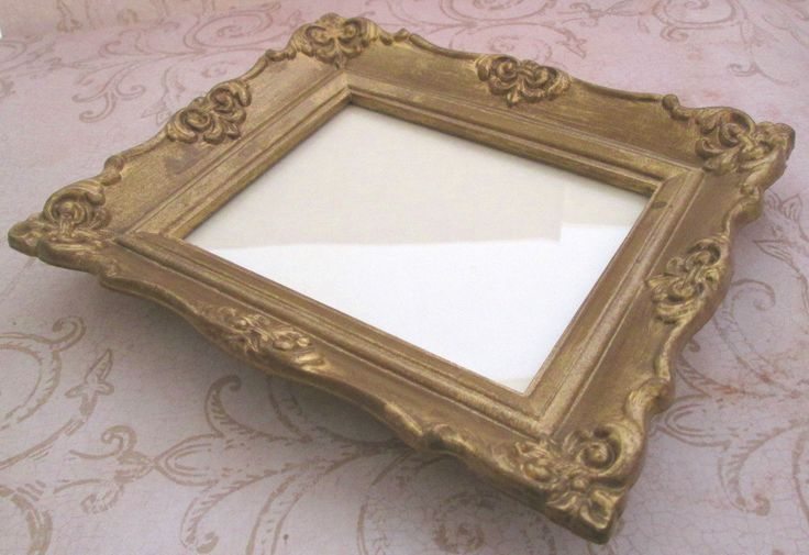 Vintage Gold Photo Frame, 1970s, Resin Picture Frame, fleur de lis decor, Baroque frame, Small photo frame, Syroco style, wall mount, French - $16.00 - pinned by pin4etsy.com