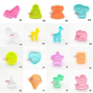 Cetakan Biskuit / Nasi / Kue / Bento 3D Aneka Motif Bahan Plastik dan Logam [025139]