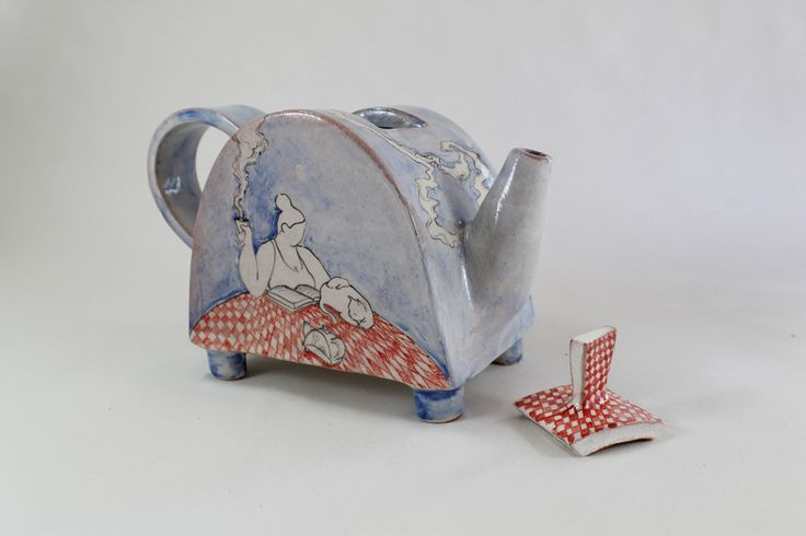 lady & cat I teapot by Giannis Agathos