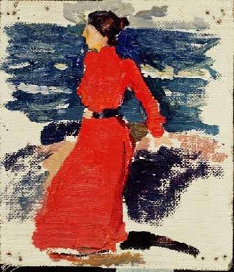mujer ante el mar, 1900