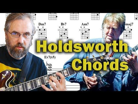 Allan Holdsworth Chords on a Jazz Standard - Advanced Modern Chord Voicings - Guitar Lesson - YouTube