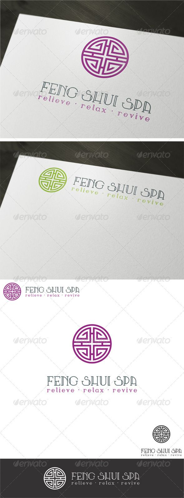 64 best logo templates images on pinterest logo templates font feng shui spa logo template colourmoves