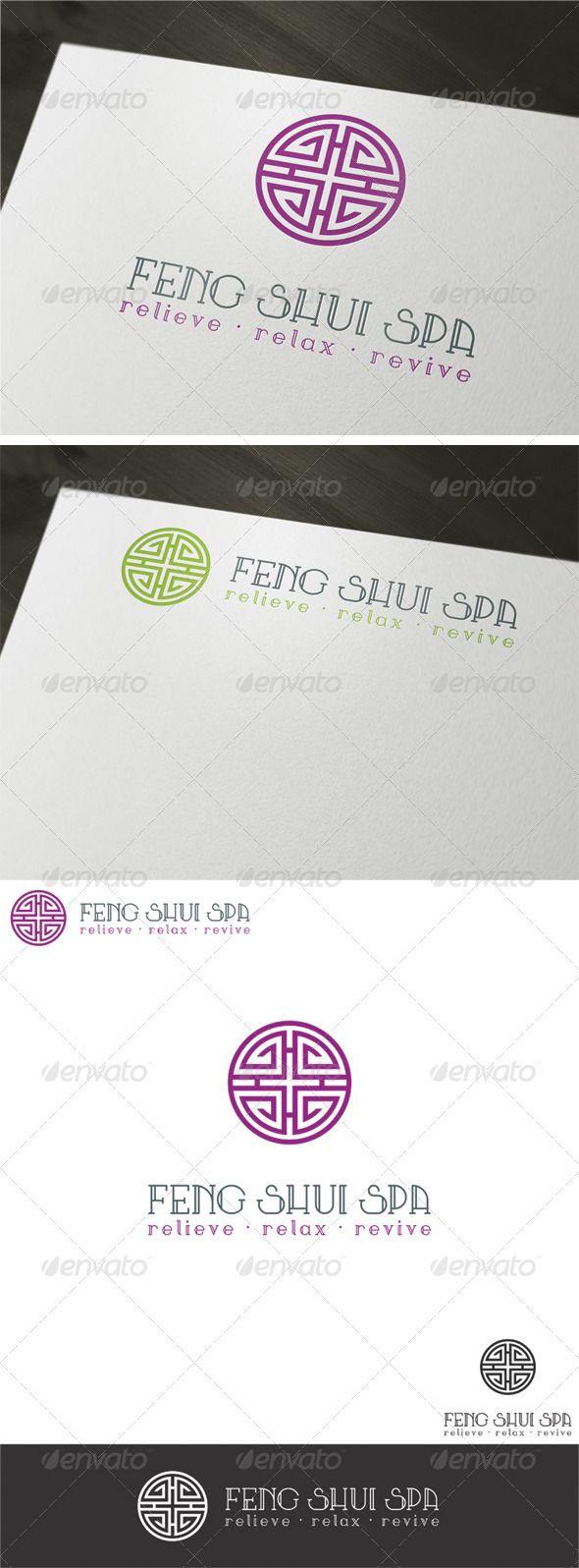 Feng Shui Spa Logo Template - Vector Abstract