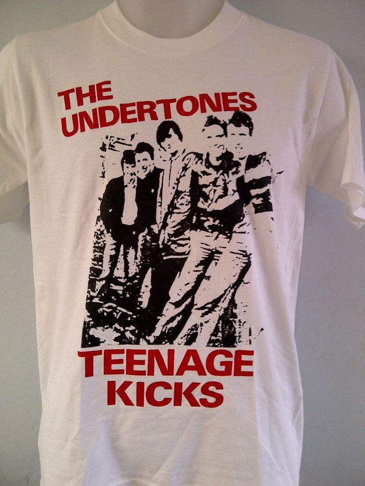 "THE UNDERTONES PUNK TSHIRT  ""Teenage Kicks"" is the debut single by Northern Irish punk rock/new wave band The Undertones. Written in the summer of 1977 by the band's principal songwriter, John O'Neill, the song was recorded on 16 June 1978 #TheUndertones #TeenageKicks"