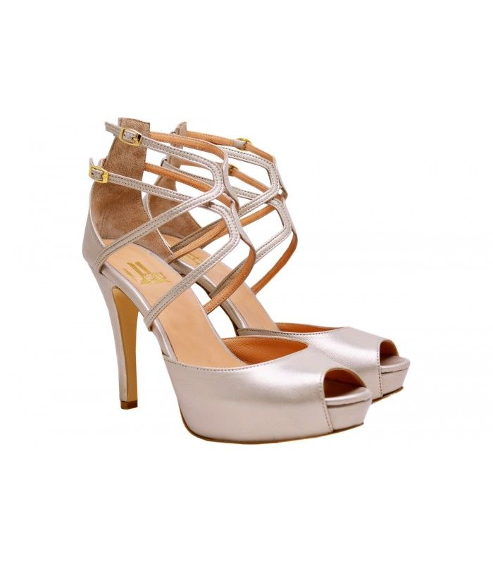 LEATHER BRIDAL-EVENING SANDALS DESIGNERLOU. Excellent choice for a very impressive appearance of the new collection ofLou company.